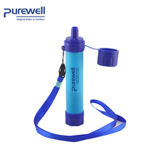 light weight life purification camping UF Membrane water filter straw