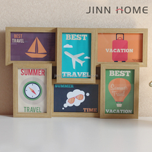 Wholesale Wooden family multiple 6 Pcs collage Picture Photo Frames