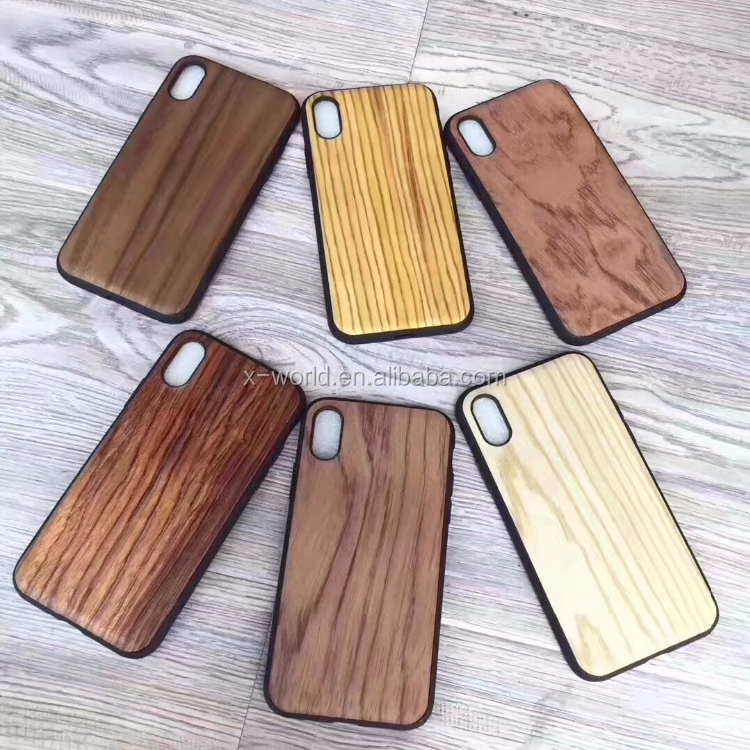 Phone Accessories Factory Wholesale Real Wooden PC TPU Case For Mobile