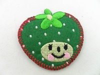 Design custom iron on fruit embroidered patches