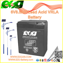 6V8.5AH Maintenance-Free Manufacture VRLA high rate AGM SLA MF solar UPS rechargeable sealed lead acid battery