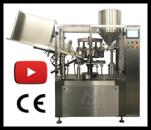MIC widely used semi auto cosmetic plastic tube filling machine