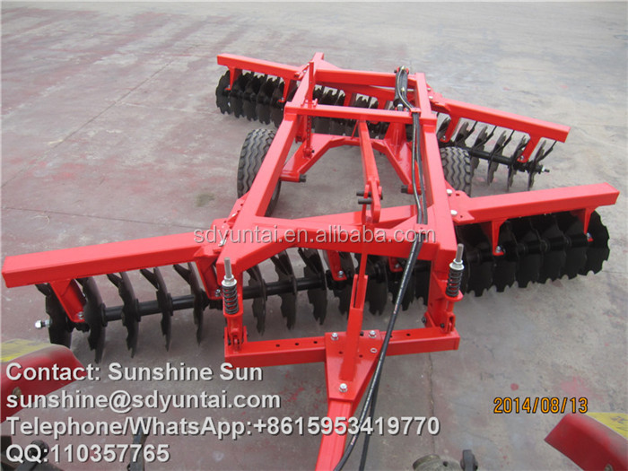 Tractor farming machine 40 discs harrow agricultural implements