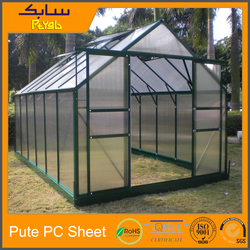 Polycarbonate glazing Clear Opal pc Green house siding