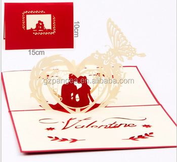 China Factory Wholesale Colorful Custom Handmade Holiday 3D Greeting Card