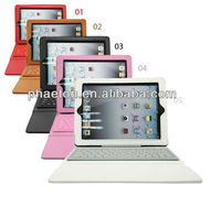 Leather Case Cover with Bluetooth Keyboard for Apple iPad 2 2nd iPad 3 3rd iPad2 iPad3 The New iPad