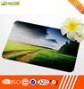 Natural Rubber Foam Base with Bright White Cloth Top Material Tablet Mouse Pad