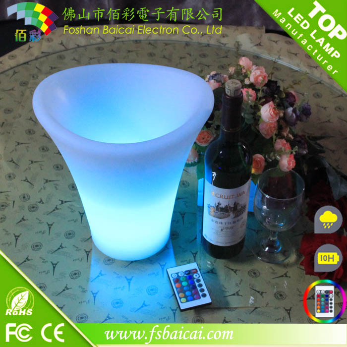 8L Wine Beer Bottle Custom plastic LED Ice Bucket for party