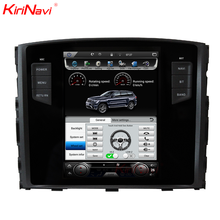 "KiriNavi Vertical Screen Tesla Style android 6.0 10.4"" for mitsubishi pajero android car dvd 4G touch screen"