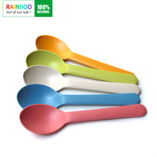 eco bio bamboo fiber personal spoon and fork
