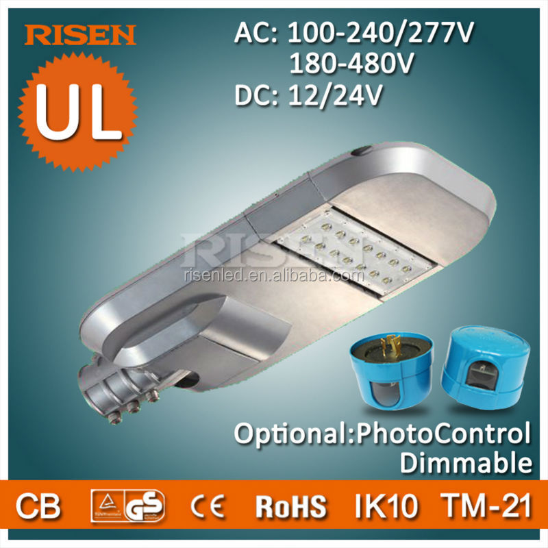 RISEN UL cUL SAA DLC Plaza 30W Solar Led Street Light