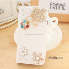 2017 Luxury Crystal Rhinestone Gem Sparkle Bling Leather Case For Mobile Phone For All iPhone/Samsung Gold Supplier