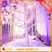 New Christmas trees decoration with hanging crystal garlands