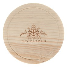 safety wooden round pizza cutting board with custom logo