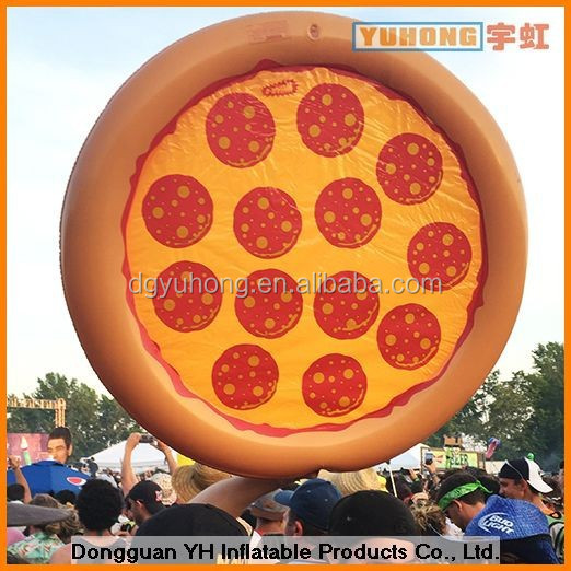 customized oxford advertising inflatable pizza model with logo printing