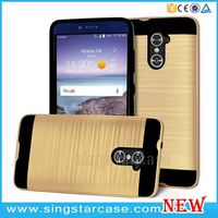 Hot Selling PC+TPU Wire Drawing Mars Combo Slim Armor Case For ZTE Z988 Grand X Max 2