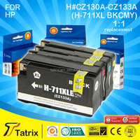 Printer Consumables Compatible CKMY Color Inkjet Ink Cartridge for HP CZ130-1-2-3