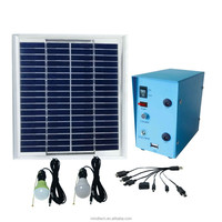 Mini DC solar system with 5w solar panel 12v 3w led lamp to Lighting and Charging Phones for remote area