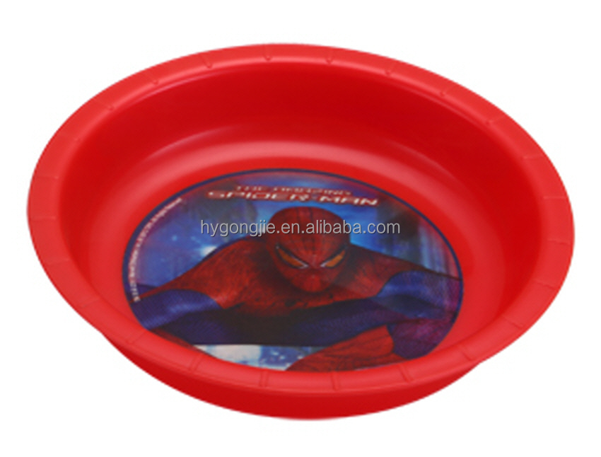 Hot Sale Popular 3D Printing Plastic Flat Plate Colorful Fruit Tray