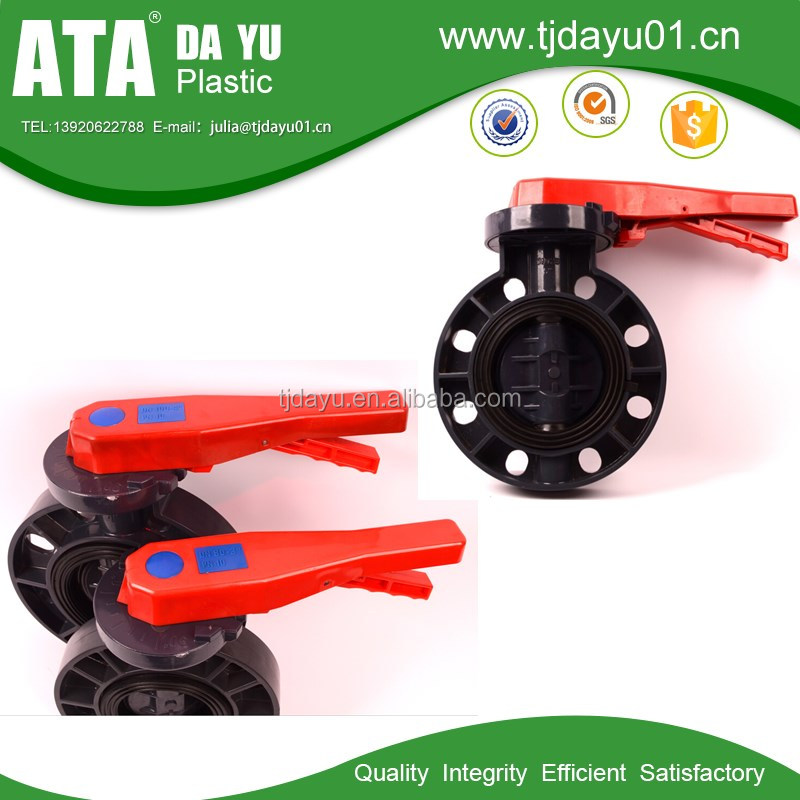 Butterfly valves are PVC with EPDM seals Compact, light weight design, Full boot seal for durable performance