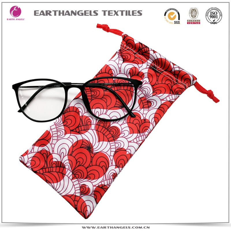 Custom color microfiber bag for eyeglass