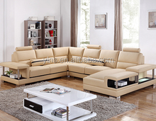 Elegant design L-shape living room fabric sofa furniture
