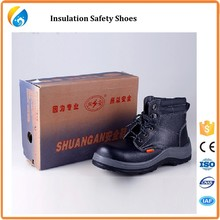 Men steel toe cap steel insole boots leather safety shoes