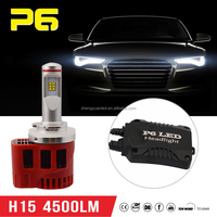 P6 9000lm Mini size H15 led headlight / Auto cars accessories LED H15 with mini cooper body kit