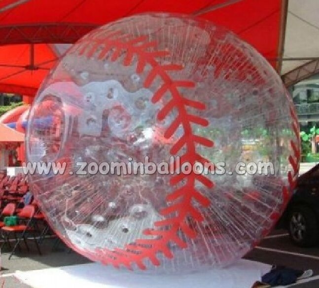 new design sport theme inflatable human bowling balls ZB04