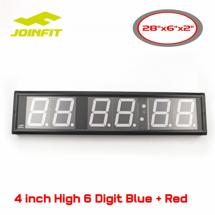 "JOINFIT Crossfit Interval Training Timer 4 Inch High 6 Digital Wall Clock ,Remote-Control(28""x6""x2"")"