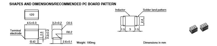 SMD Inductors(Coils), For Power Line(Wound),1812 4.5*3.2*3.2mm 4532 330UH	NLC453232T-331K-PF
