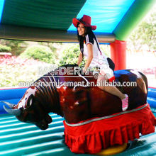 Crazy and Fun inflatable mechanical bull ride for sale