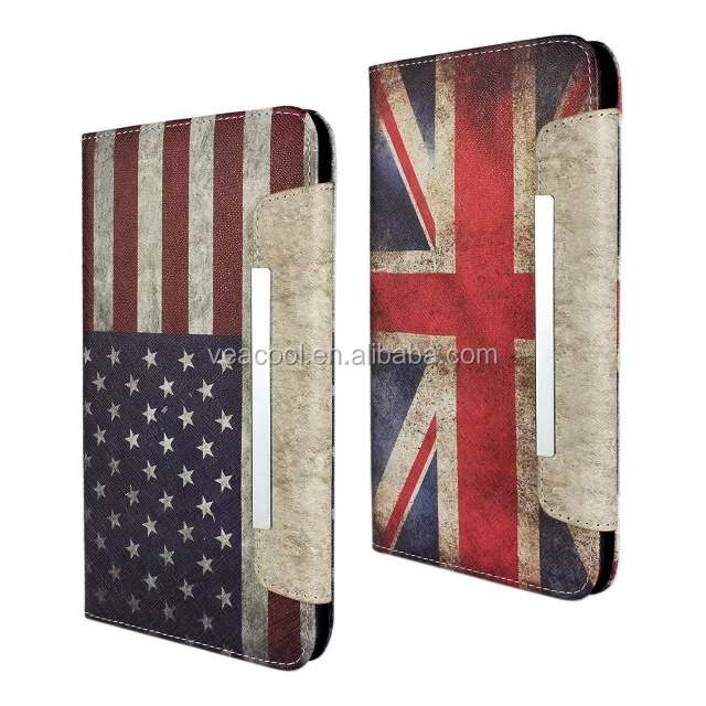 "Flag Book Stand PU Leather Case for Samsung Galaxy Tab 4 T330 8.0""case"