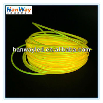Multi color light 3M tron neon glowing electroluminescent wire el wire with transformer