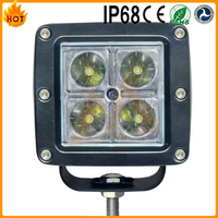 Unique Design IP68 Waterproof Good Quality 12W LED Work Light for Jeep Wrangler Motorcycle Accessories
