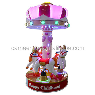 shopping mall indoor coin operated kiddie rides carousel for sale