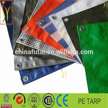 180gsm orange and green tarpaulin for market stall or outdoor storage