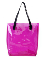 Candy colors PVC shopping bag cheap tote bag made in china