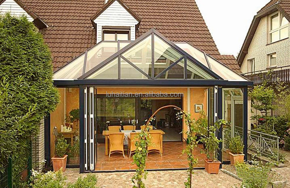 China PVC and Aluminum insulated glass sun room