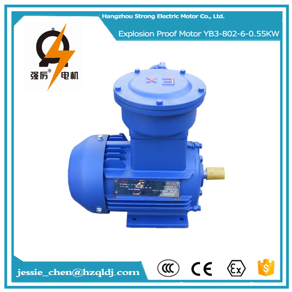 yb3 0.55kw 910RPM medium size electric induction explosion proof motor