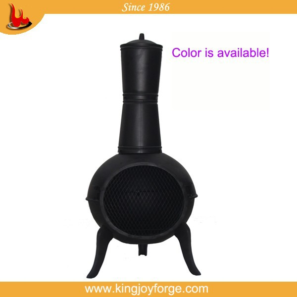 2015 Kingjoy cast iron wood burning chiminea/outdoor heater