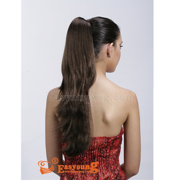 Two-way use claw clip ponytail hair pieces, heat resistant hair