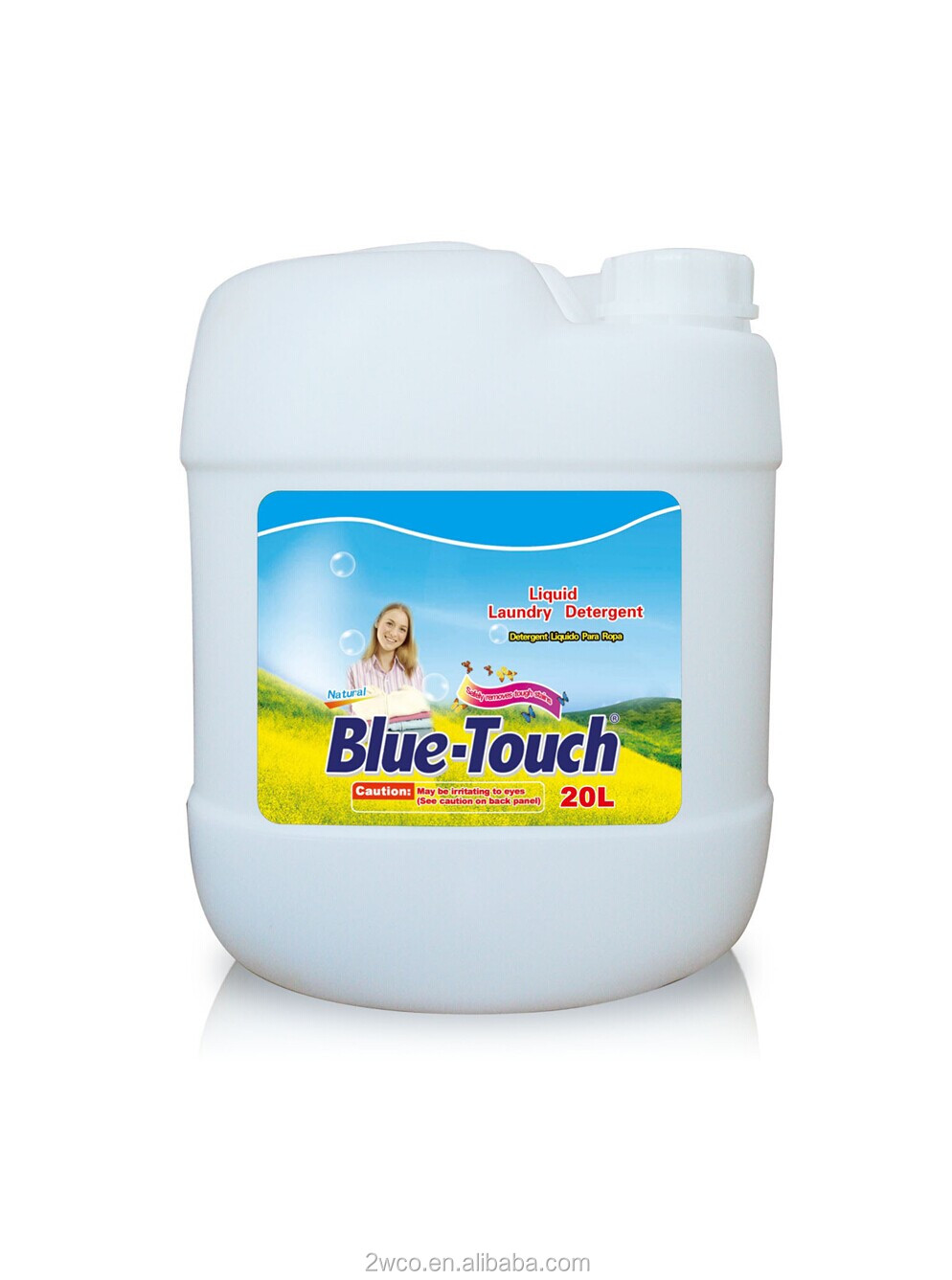 New Recipes & formula remove tough stain Bulk liquid laundry detergent with flowery perfume 5L/20L
