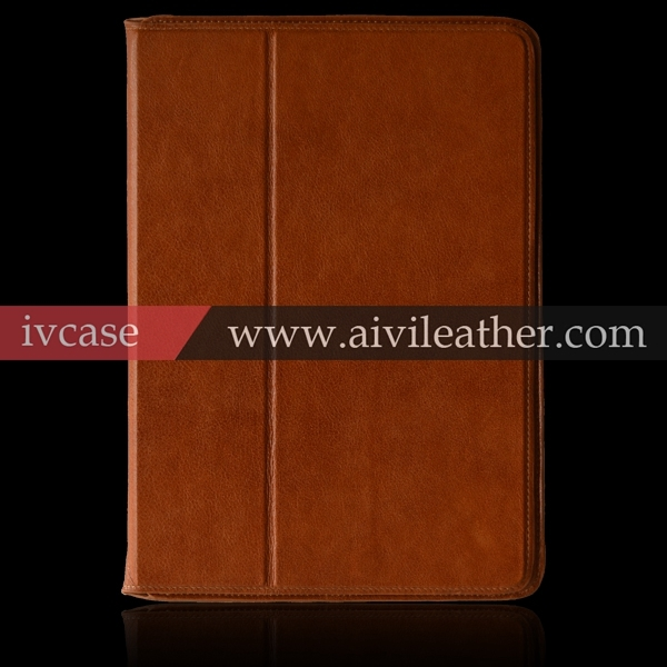 High Quality Real Cow Leather Stand Booklet Cover For Ipad Air Case, For Apple Ipad Air Protective Case Wholesale