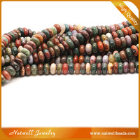India Agate Rondelle Gemstone Beads From China