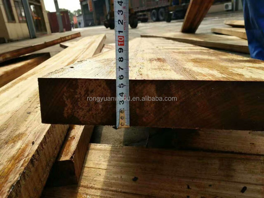 Fresh wood Nauclea Gabon timber Bilinga logs high quality for selling