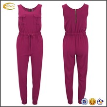sleeveless womens fitted pink adult pajama jumpsuit wholesale
