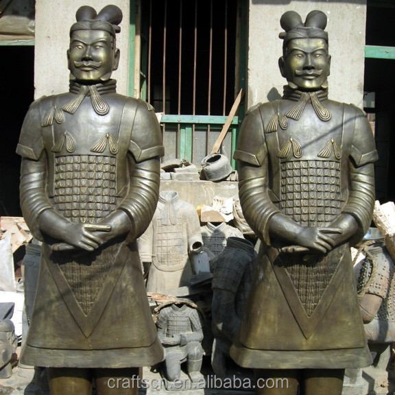 terracotta warriors statues made of clay