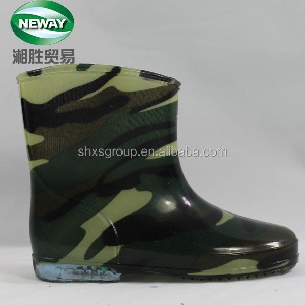Anti-skidding Transparent Women's Mixed Olives Rubber Rain Boots