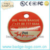 customised aluminum pet id tag with epoxy coating